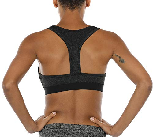 2828963868b icyzone Racerback Sports Bras for Women - Women's Activewear Top, Workout  Clothes, Running Yoga