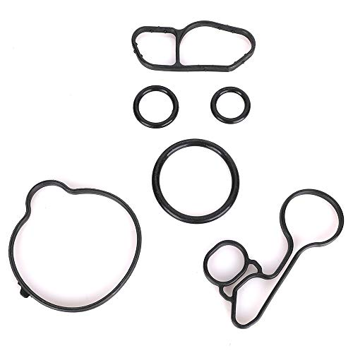 Oil Cooler Thermostat Housing Seals Gasket Kit fits Chevrolet Cruze Limited Sonic Trax 1.4L Turbocharged Oil Filter Housing