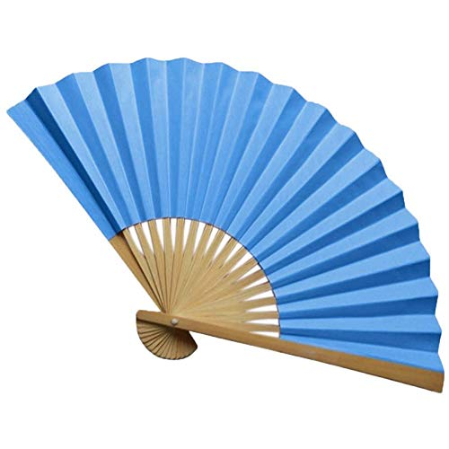 - Pattern Chinese Style Hand Held Fan Bamboo Paper Folding Handheld Wedding Cool Flower Personalized 19feb19,L,United States,