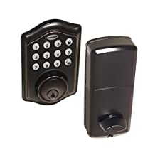 Honeywell 8712409 Electronic Entry Deadbolt with Keypad, Oil Rubbed Bronze