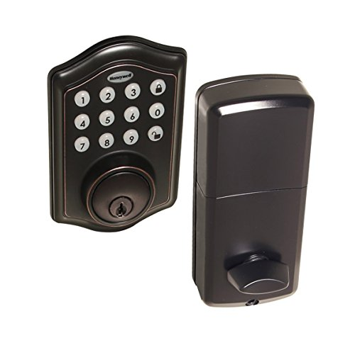 Honeywell Safes & Door Locks - 8712409 Electronic Entry Deadbolt with Keypad, Oil Rubbed Bronze