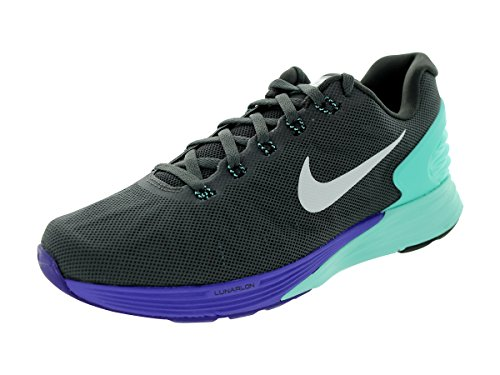 Nike Mujeres Lunarglide 6 Running Shoe Medium Ash / Hyper Turquoise / Hyper Grape / Black