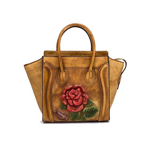 AJLBT Main Main Sac Chinois Rétro Style Rose à Style Lightcoffee De Simple Dames Mode Fait Sac rrWq4z0