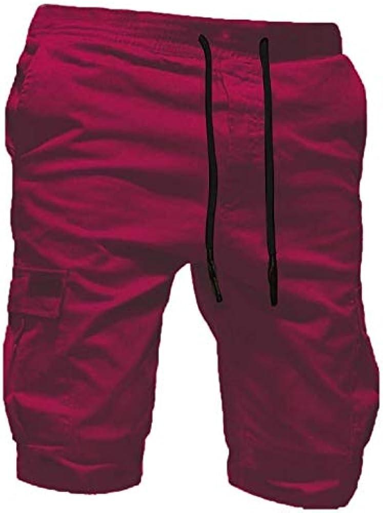 VPASS Pantalones Hombre Verano Moda Pop Casual Trabajo Corta ...