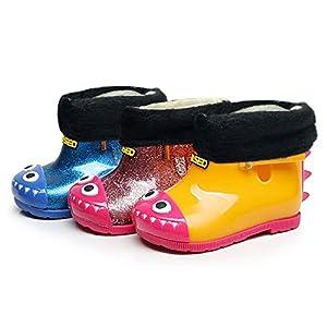Sikye Children Rain Shoes,Kids Girl Boy Cartoon Shark Waterproof Sneaker Slip-On Rubber Rain Boot - Casual School Outdoor