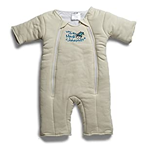 Baby Merlin's Magic Sleepsuit – Swaddle Transition Product – Cotton – Cream – 6-9 Months