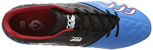 Canterbury Phoenix Elite 8 Stud - Zapatillas de rugby de sintético para hombre - Black/Dresden Blue (989)