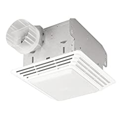 Make sure your home is comfortable and has proper ventilation with the Broan Ventilation Fan and Light Combo. This innovative ceiling-mount unit removes odors and eliminates moisture to improve the air quality in your home. The white grille f...