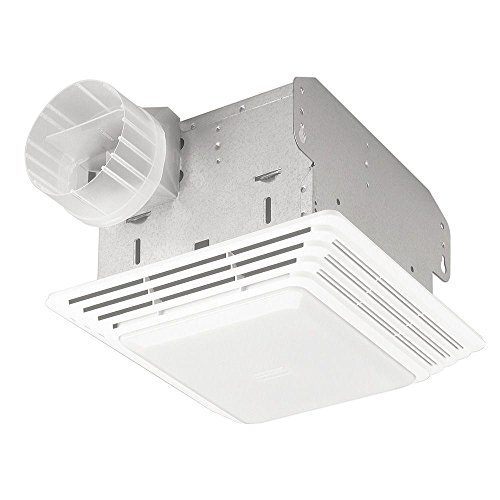 Broan 678 Ventilation Fan And Light Combination, 50 CFM And 2.5 Sones