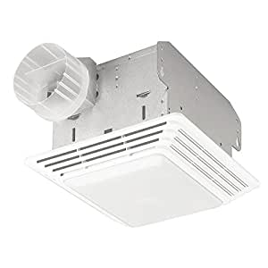 Broan 678 Ventilation Fan and Light Combination, 50 CFM and 2.5-Sones
