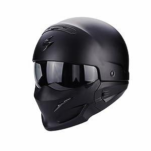 Scorpion Exo Combat Motorbike Helmet Matt Black L