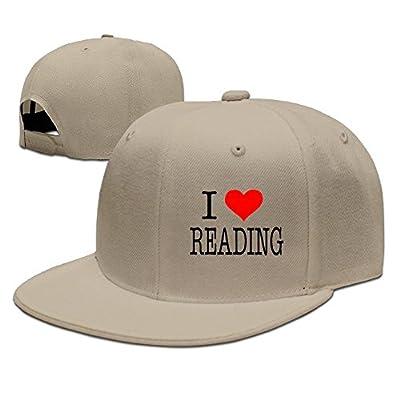 I Love Reading Solid Flat Bill Hip Hop Snapback Baseball Cap Unisex Sunbonnet Hat.