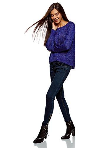 e Blu Lurex Donna oodji Posteriore Allungata Collection Parte 7500x con Maglione aXRaw