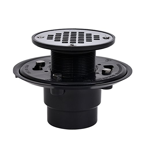 Oatey 42210 ABS Drain with Stainless Steel Strainer for Tile Shower Bases, 2-Inch or 3-Inch