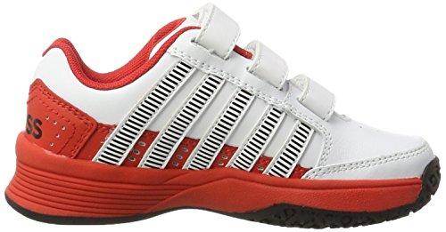 Omni De Court Ltr Tennis Mixte Chaussures swiss fiery K Red black Enfant Strap Blanc white Performance Impact qTfCX