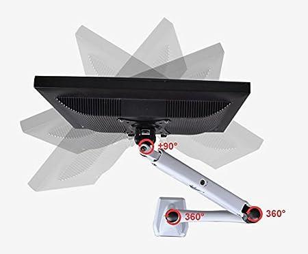 HFTEK/® Monitor-Halterung Halter Tischhalterung f/ür Bildschirme 15 bis 34 Zoll mit VESA-Lochmuster 75//100 und Doppel-Klemmsystem GM112XF Weiss 16 kg Belastbarkeit: bis max