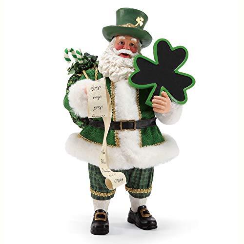 Department 56 Possible Dreams Santa Celtic Holiday Irish Cheer Figurine, 11 Inch, Multicolor (Department Possible Dreams Santas 56)