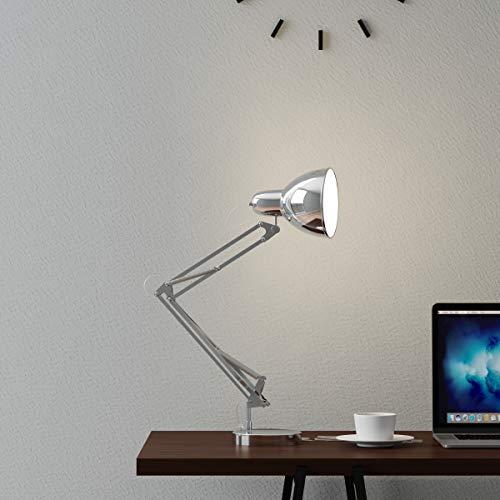 - Lavish Home Architect Desk Lamp-LED Task Adjustable Swing Arm for Home and Office-Includes Energy Efficient Light Bulb (Metal Chrome)