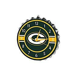 FOCO Green Bay Packers Bottlecap Clock