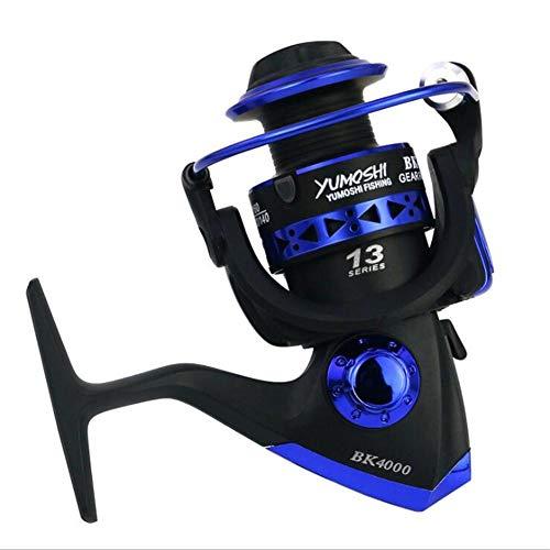YHEIVCUD 13 BB BK1000-7000 Series 5.1:1 Speed Reatio Spinning Fishing Reel Interchanged Left/Right Hand Wheel Blue 7000 Series