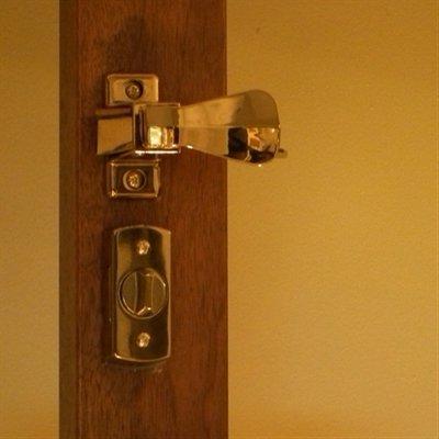 Storm Door Hardware Surface Mount- 1-1/4 Inch Thick Door-90239-022 Bright Brass