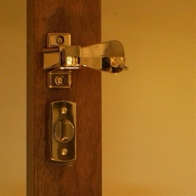 Storm Door Hardware Surface Mount- 1-1/4 Inch Thick Door-90239-022 Bright Brass by International Resources (Image #1)