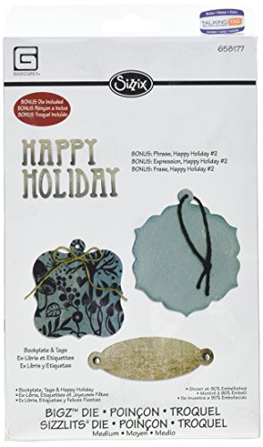 Ellison Tag - Sizzix Bigz with Bonus Sizzlits Die - Bookplate, Tags & Happy Holiday by BasicGrey