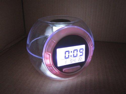 Nature Sound despertador los niños pelota de luminoso 100 x 100 x 100 mm Reloj digital con la evolución de los colores de LED y de la música y ...