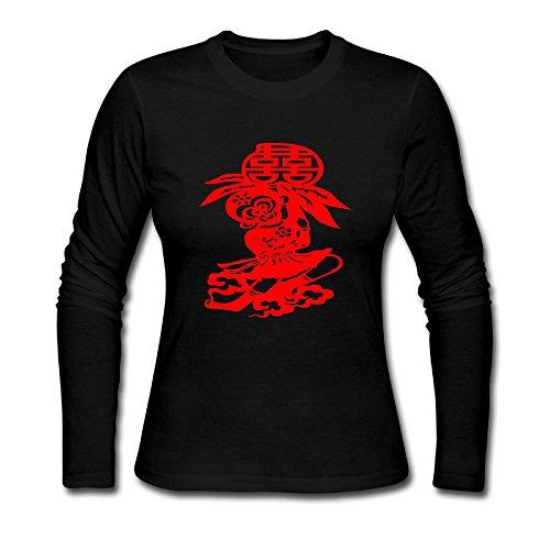 KAWAYI Red Monkey Love Heart Post Women's Casual Long Sleeve Round Neck Loose T Shirt Reynolds Casuals Set