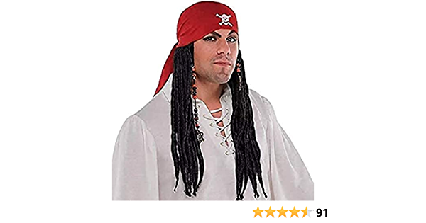 ROCK STAR Pirate Unisexe Perruque Dreadlocks Foulard accessoire Carnaval Halloween