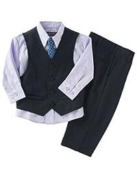 Kenneth Cole Boys 4-Piece Navy Vest & Dress Pants Set (3T)