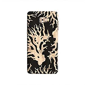Cover It Up - Black Gold Nature Print Galaxy C9 Pro Hard Case