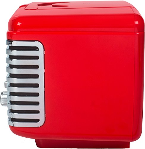 Crosley CR612D-RE Corsair Retro AM/FM Dual Alarm Clock Radio with CD Player and Bluetooth, Red by Crosley (Image #4)