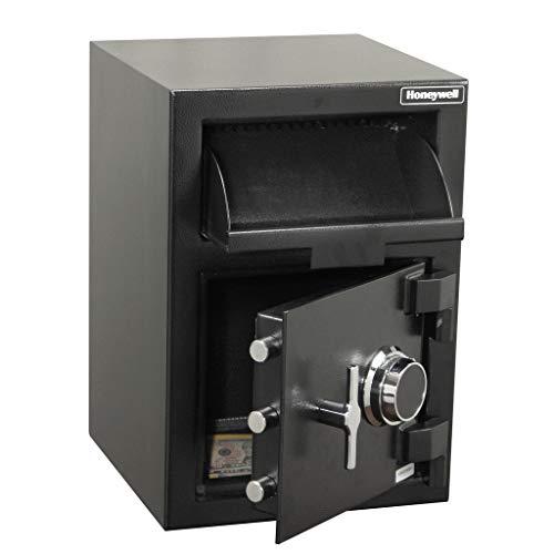 Honeywell Safes & Door Locks - 5911 Steel Depository Security Safe with Spy-Proof 4 Digit Combination Lock, 1.06 Cubic Feet, Black