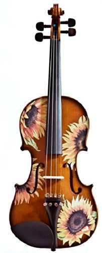 Octagonal Sunflower (Creative Concept Instruments SSN5044 Rozanna's Sunflower DeLight 4/4 Violin Outfit, Natural)