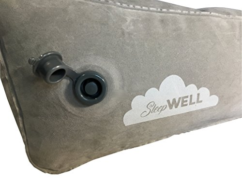 Inflatable Portable Bed Wedge With Quick Inflate/Deflate Valve and Soft Surface by Sleepwell (Image #1)