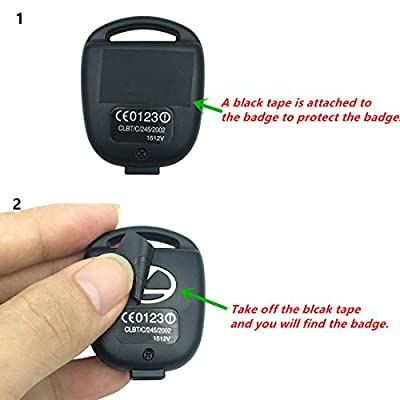 Replacement Keyless Entry Remote Control Key Case Fit for Lexus ES GS GX IS LS LX RX SC Key Fob Cover Case Without Blade(2PCS): Automotive