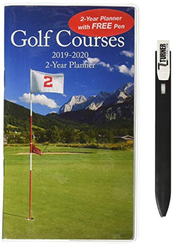 Golf Courses 2019 Two Year Planner: Pen
