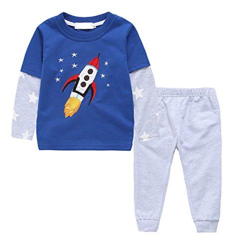 [Toddler Boys T-shirt&Pant Set 2 Pieces Clothing Sets Kids Cotton Pant Sets] (Ninja Suits For Sale)