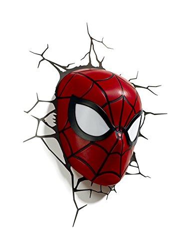 3D Light FX Marvel Spider-Man 3D Deco LED Wall Light (Spiderman Room Decor)
