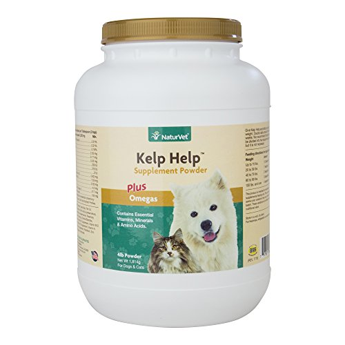 NaturVet Kelp Help Plus Omegas for Dogs and Cats, 4 lb Powder, Made in USA