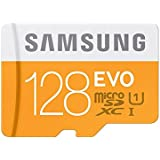 Samsung Memory 128GB Grade 1 Class 10 EVO MicroSDXC Memory Card with SD Adapter