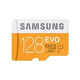 Samsung 128gb evo class 10 micro sdxc card with adapter up to 48mb/s (mb-mp128da/eu) 1 up to 48mb/s transfer speed great for cell phones, smartphones, android tablets, tablet pcs great speed and performance for full hd video recording, high resolution pictures, mobile gaming, music and more