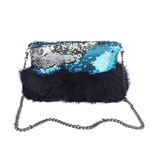 handtas dames Ital Zilverblauw voor Synthetische design Exqza