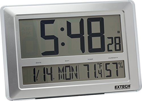 Extech CTH10A Radio Controlled Hygro-Thermometer Clock