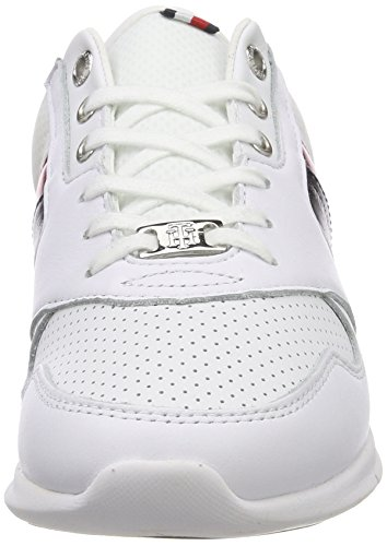 para Light Sneaker Tommy Weight 020 Mujer Hilfiger Rwb Blanco Leather Zapatillas 5AwSYw