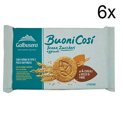 6X Galbusera Buoni così Biscuits to The 4 Cereals Snack 300g