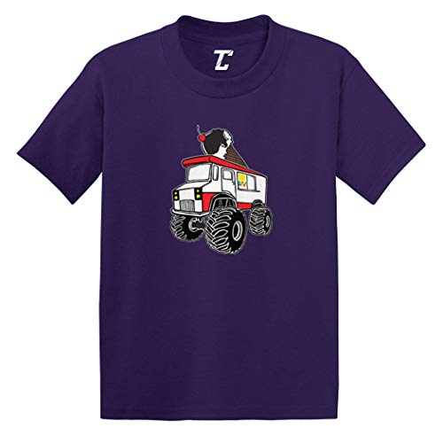 Ice Cream Monster Truck - Awesome Infant/Toddler Cotton Jersey T-Shirt (Purple, 4T)