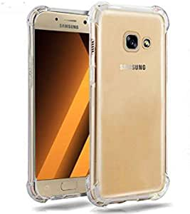 Armor Luxury Shockproof Transparent Phone Back Capinha, Coque, Cover, Case For Samsung Galaxy J5 Prime On5 2016 Silicon Silicone, Clear
