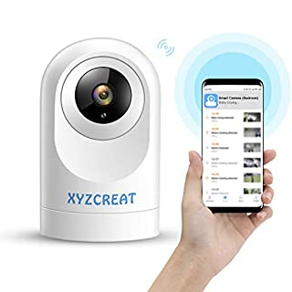 XYZCREAT 1080p Home Security Camera Wireless Cameras Work with Alexa Smart Home Camera with Motion Detection/Night Vision/2-Way Talk/TF/Cloud Storage
